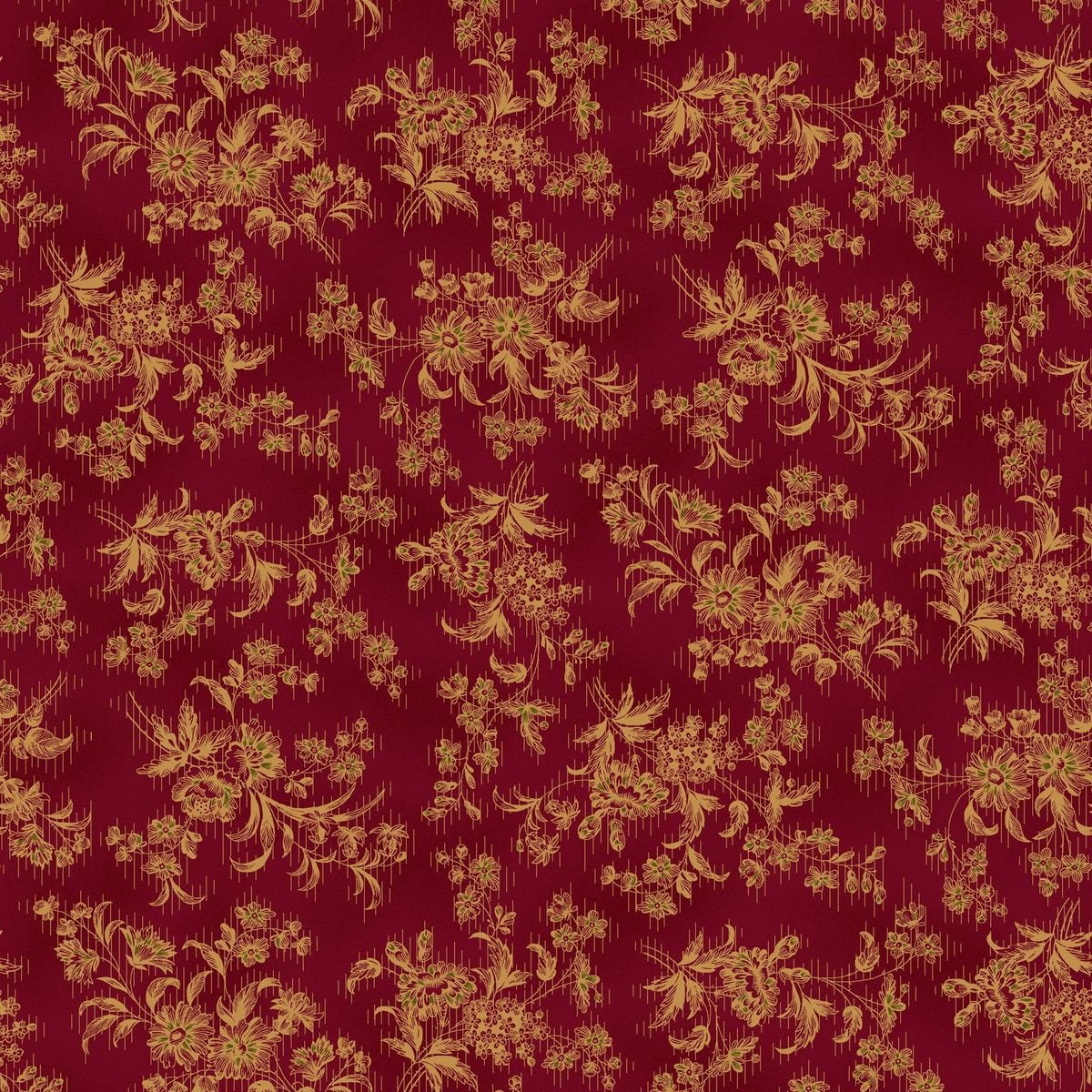 HG-Farmhouse Christmas 9676-88 Red - Stylized Floral