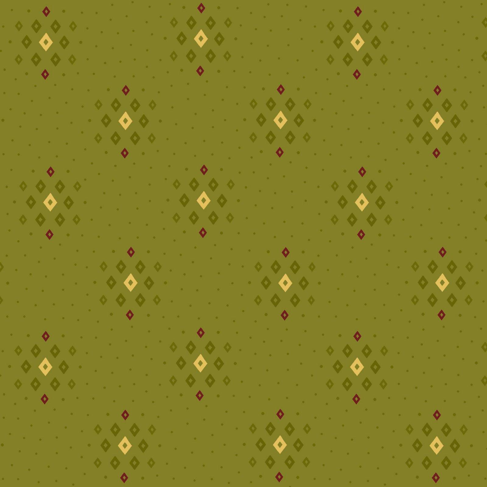 HG-Farmhouse Christmas 9677-66 Green - Tonal Diamond Clusters