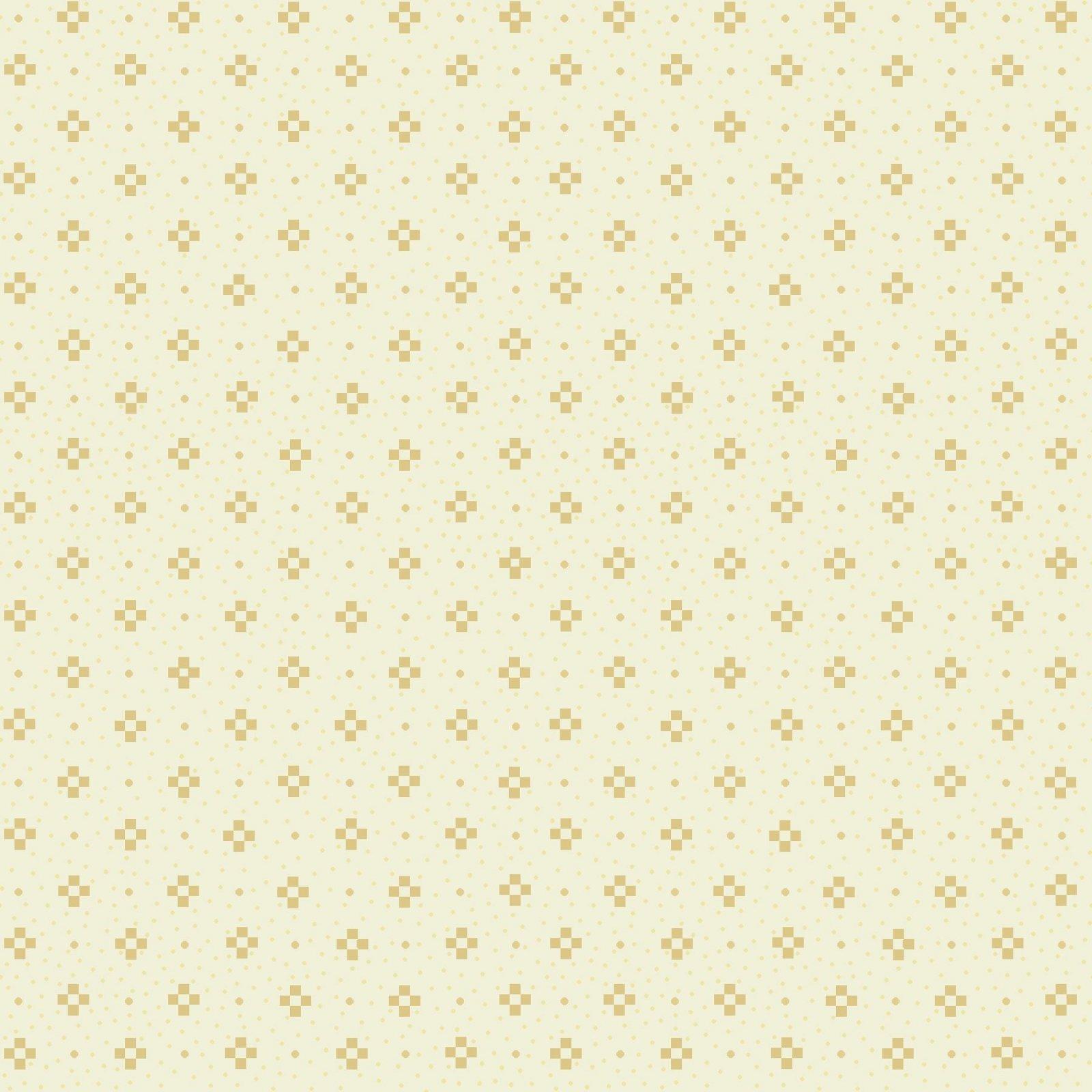 HG-Farmhouse Christmas 9679-40 Cream -Nine Patch Tonal