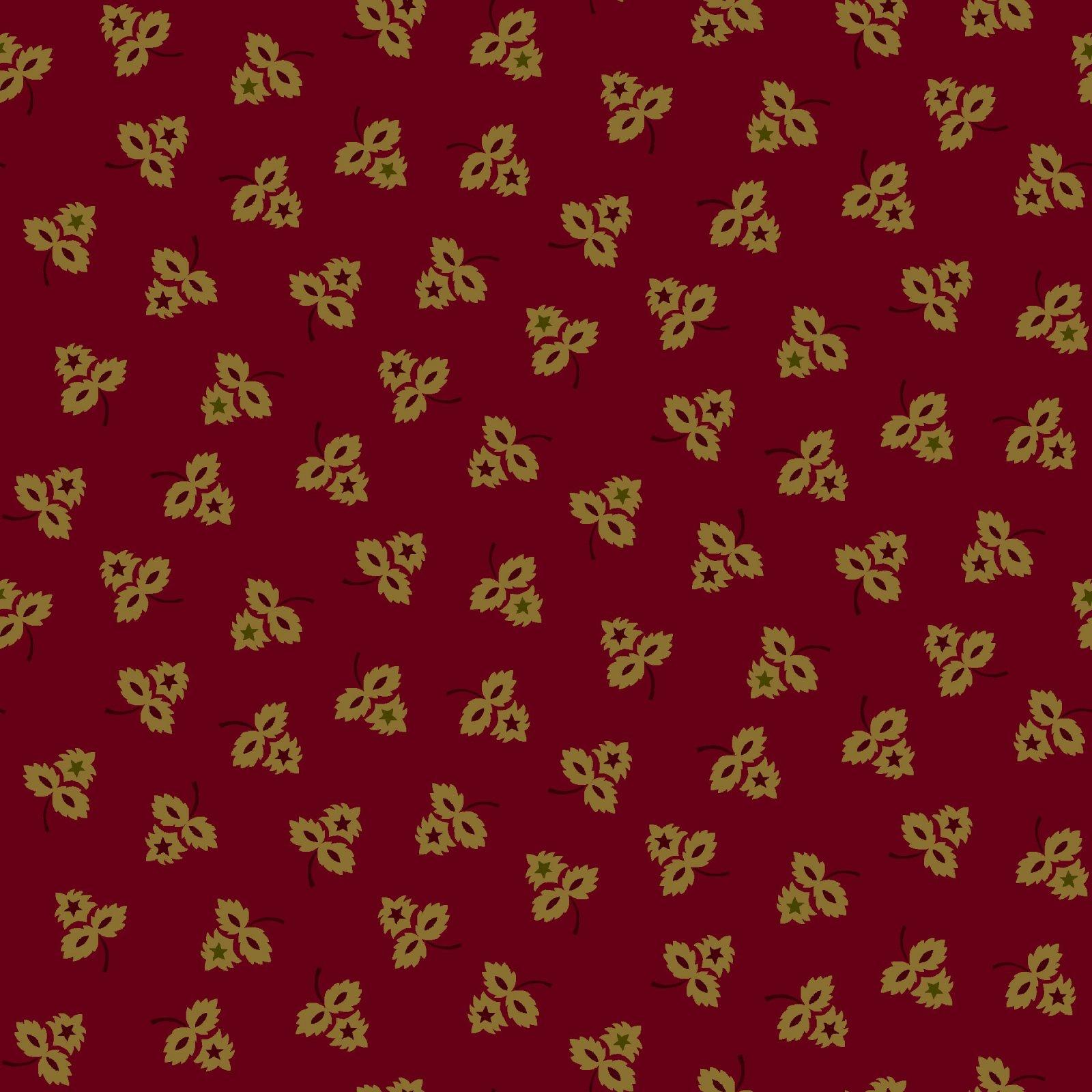 HG-Farmhouse Christmas 9682-88 Red - Three Leaf Clusters