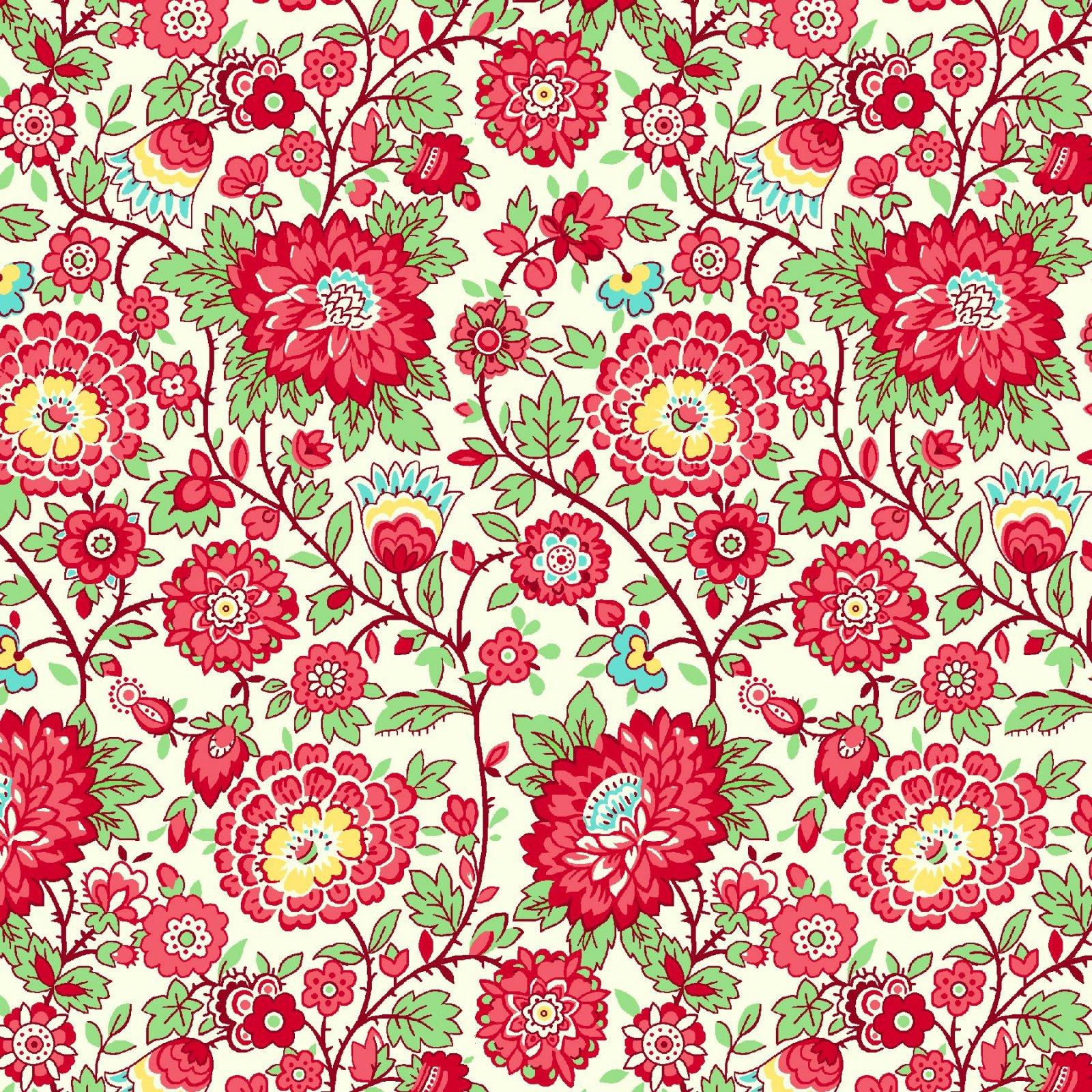 HG-Nana Mae V 9686-8 Red - Medium Floral