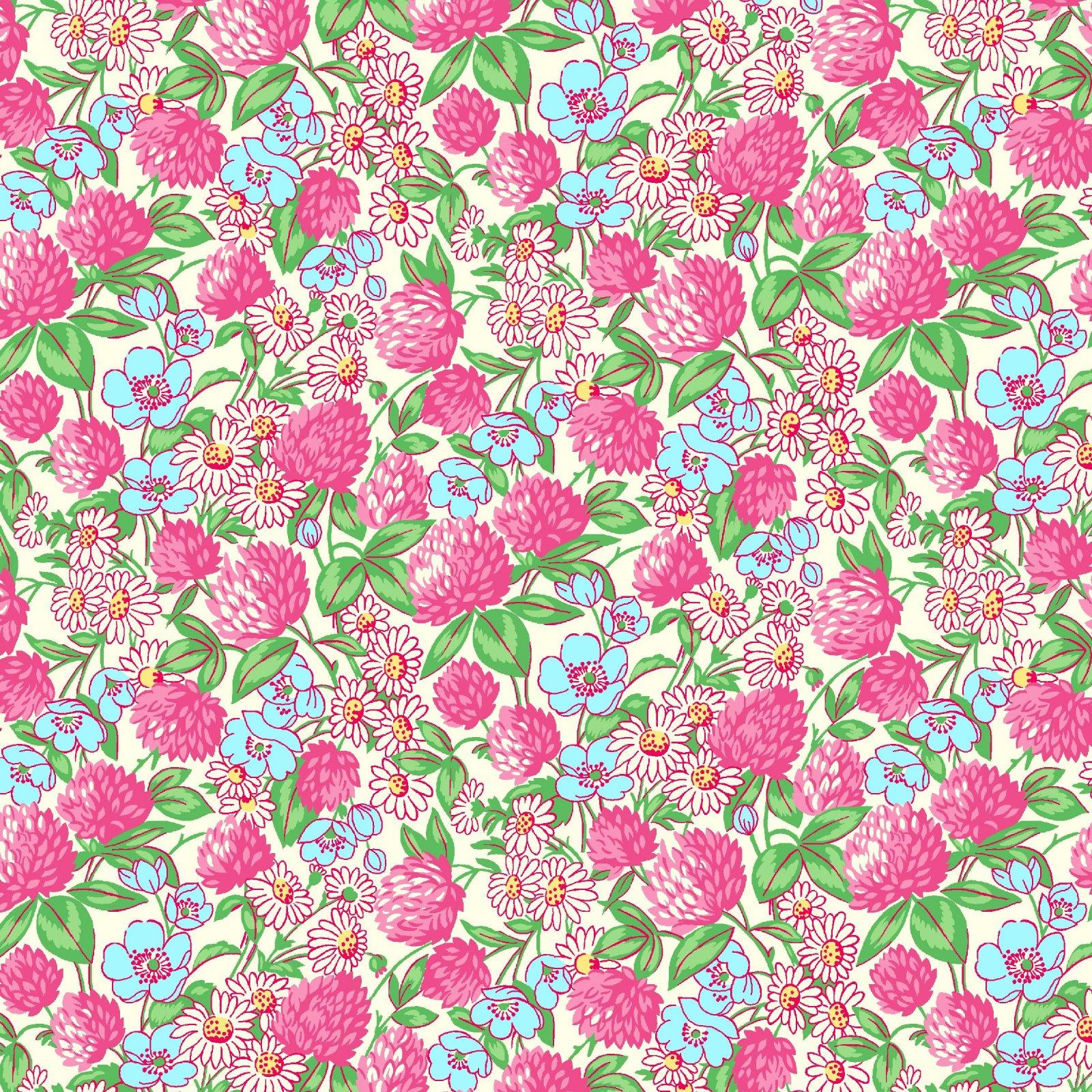 HG-Nana Mae V 9687-2 Pink - Clover and Daisies