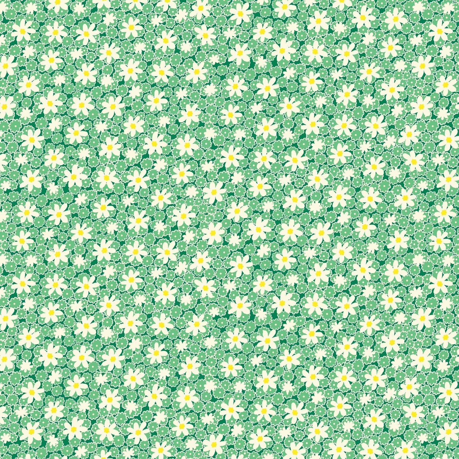 HG-Nana Mae V 9688-66 Green - Packed Daisies