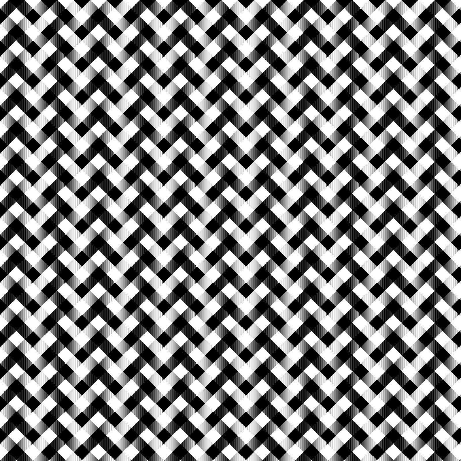 HG-Chelsea's Checks 9700-9 Black/White - 1/8 Check