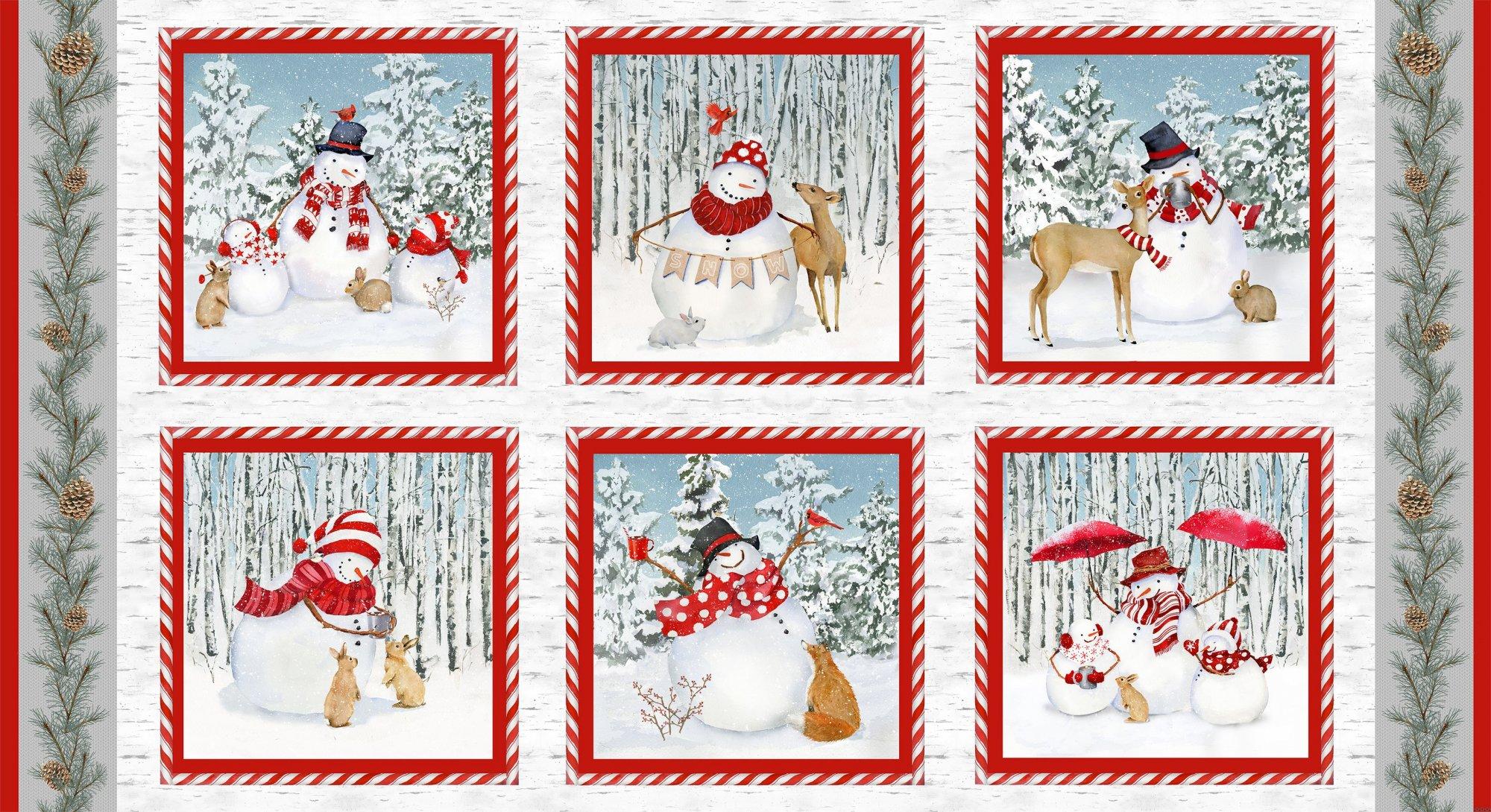 HG-Welcome Winter 9701-18 Multi - 24 Repeat of Six Snowman Blocks