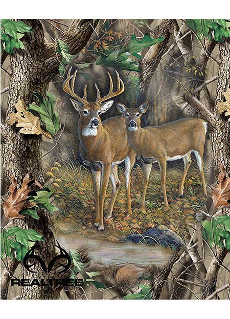 PC-Realtree Cotton 9903 Deer Quilt Panel - 8