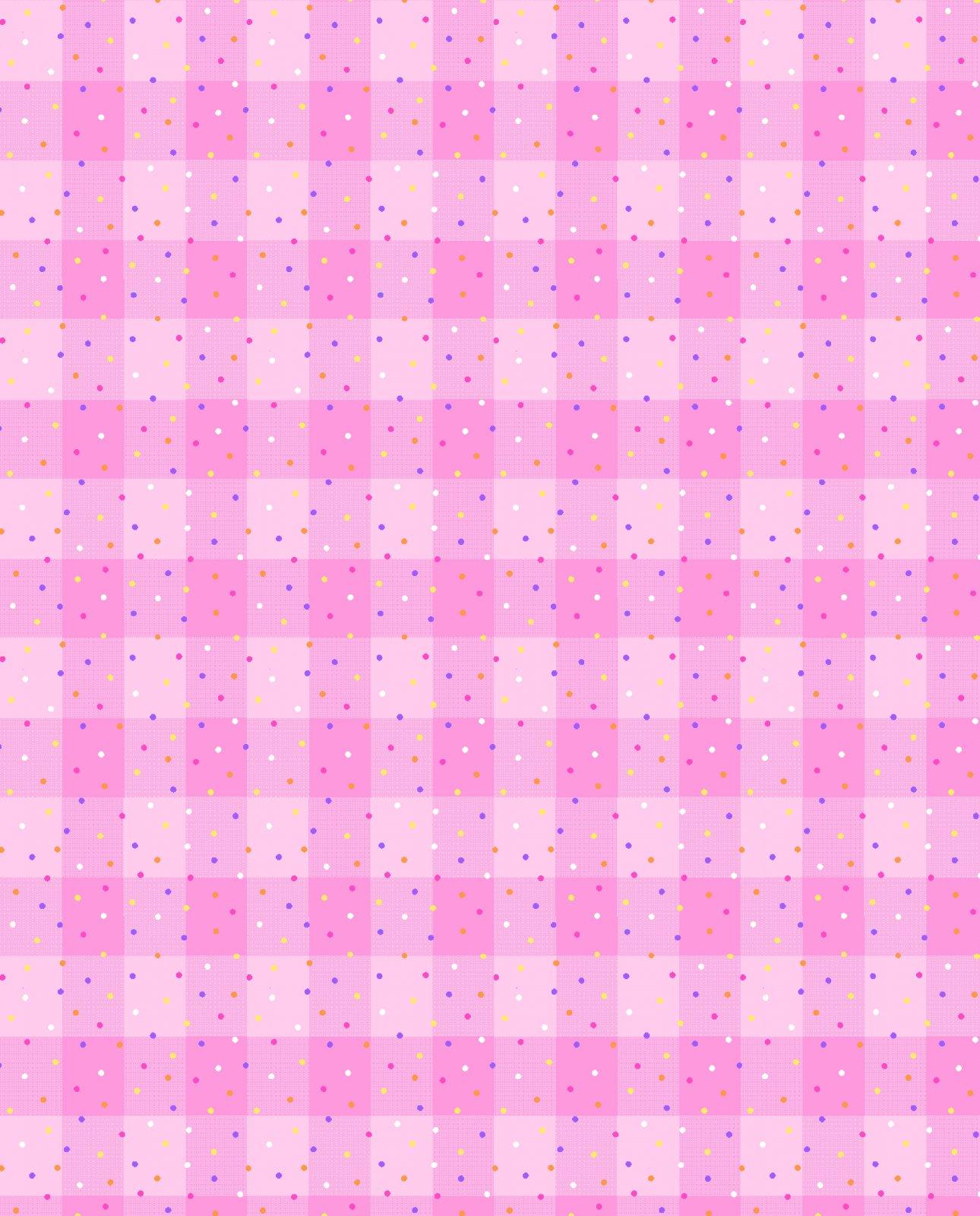 AE-Comfy Flannel Print 9706-22 Pink Funfetti Plaid
