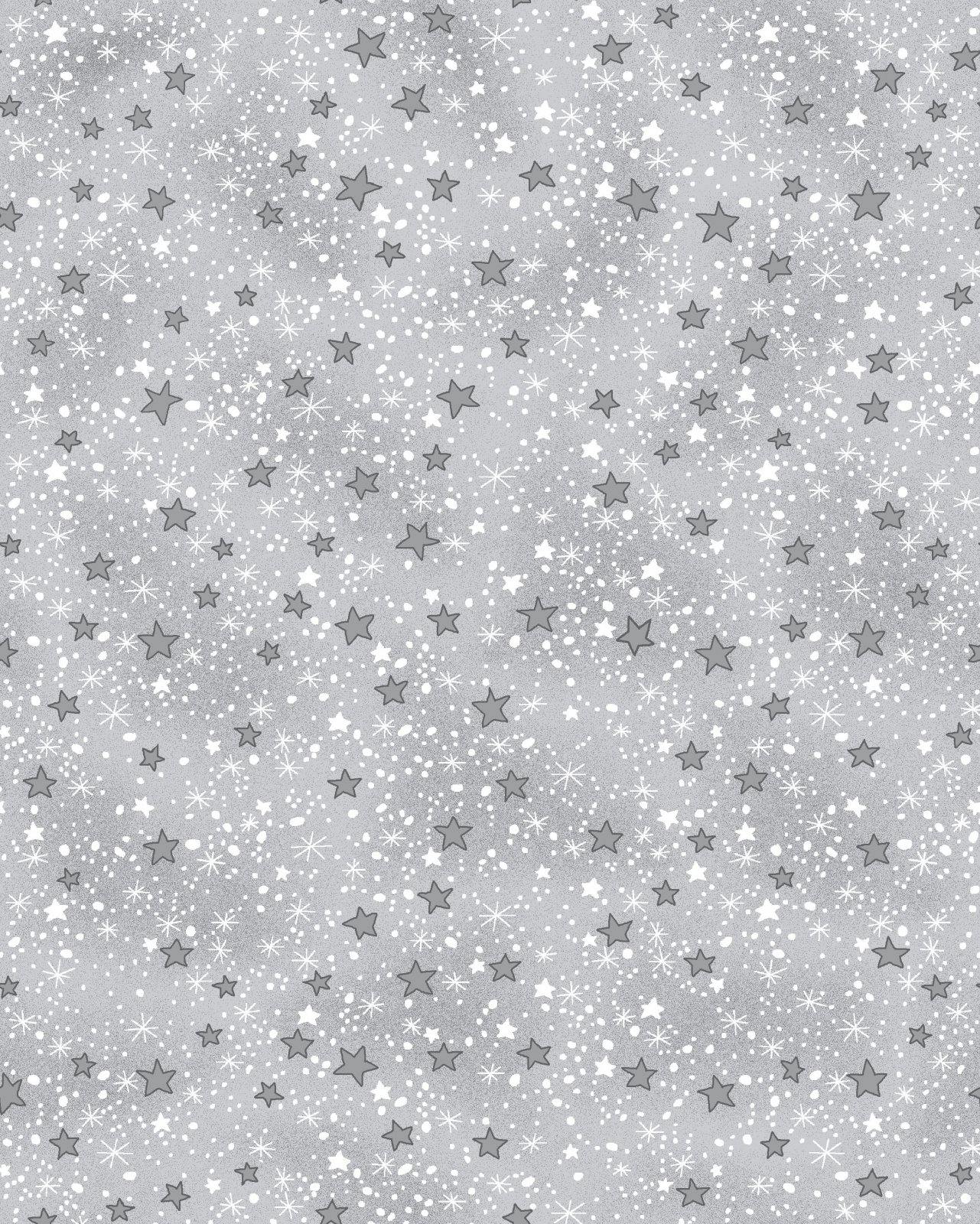 AE-Comfy Flannel Print 9831-99 Grey Mini Stars