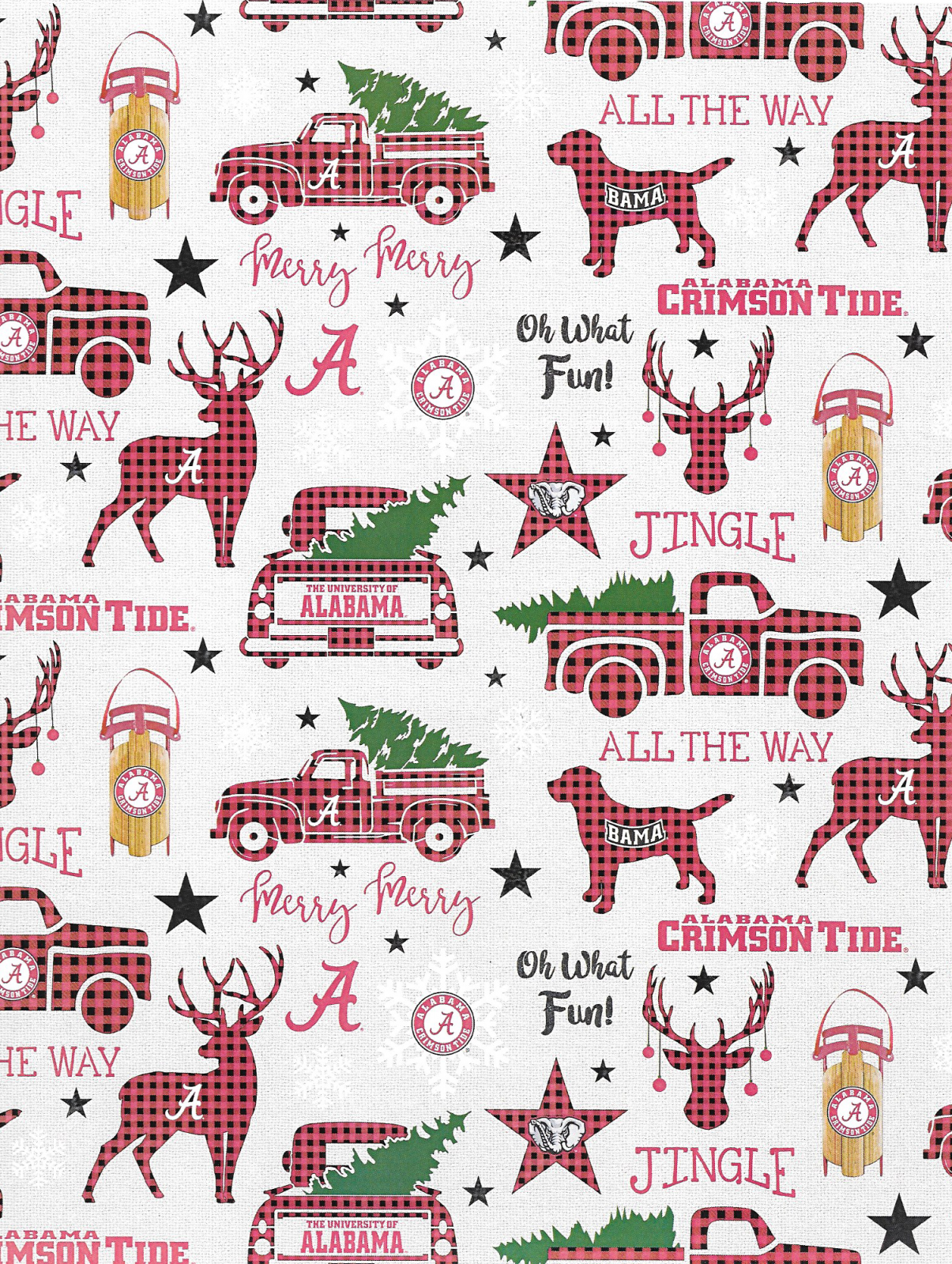 University of Arkansas Cotton Fabric-Arkansas Razorbacks Quilting Cotton-ARK800
