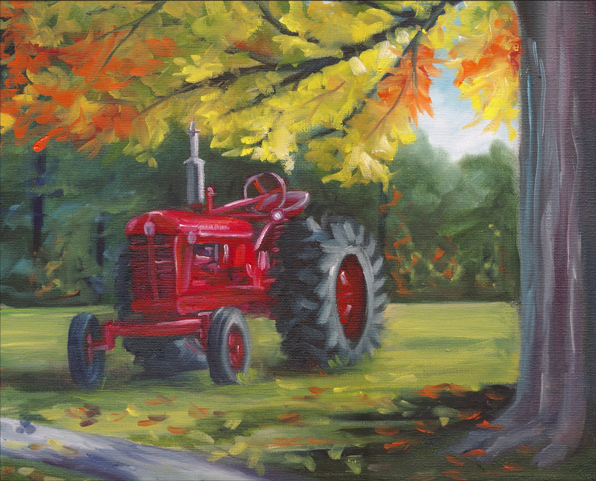 DT-David Exclusives AL-3969-9C-1 Farmall Splendor Panel