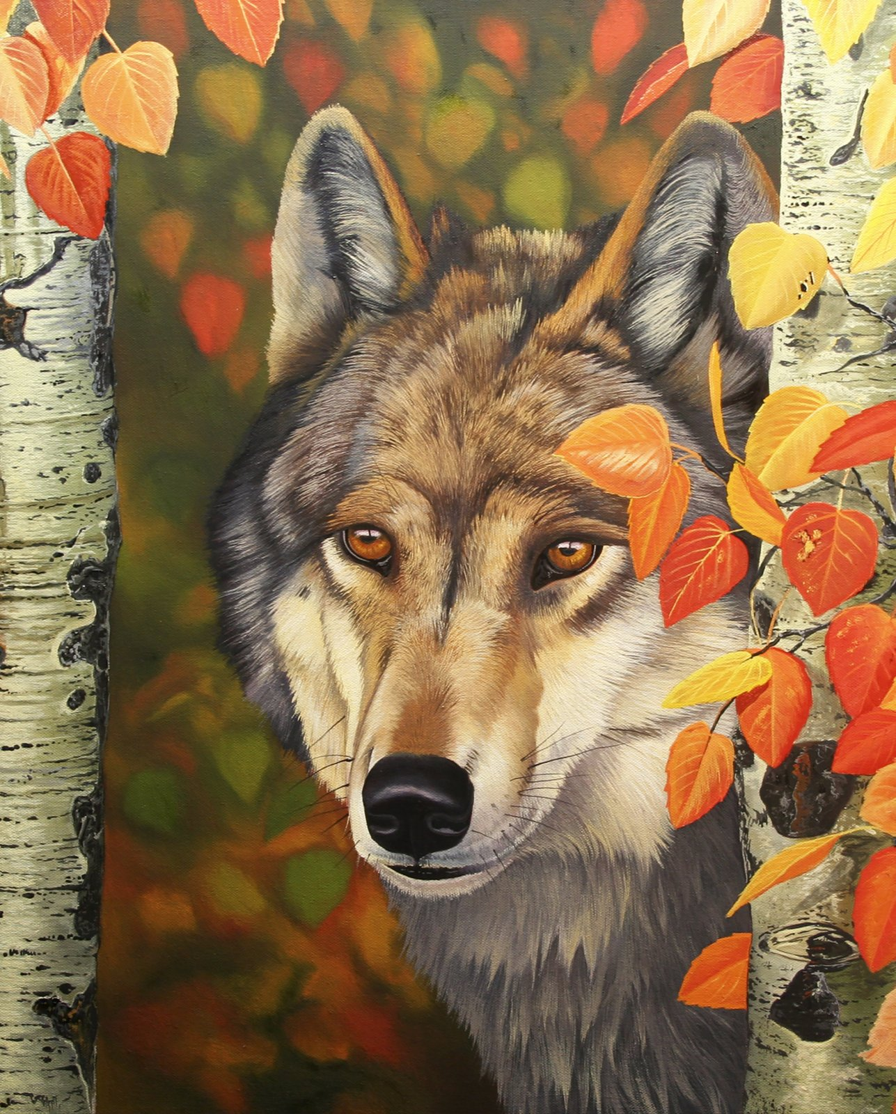 DT-David Exclusives AL-3980-9C-1 Colors of the Wolf Panel