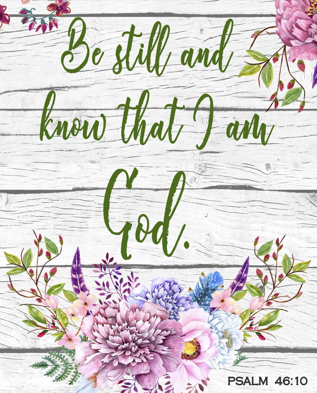 DT-David Exclusives AL-3990-9C-1 Floral Bible Verse Panel