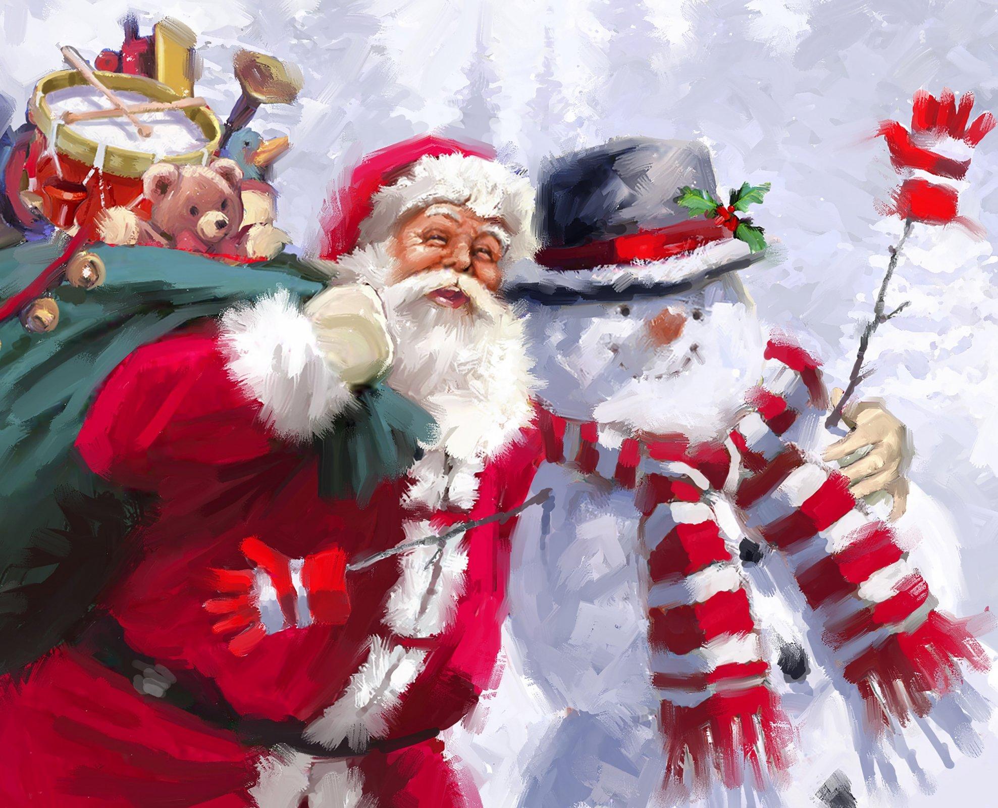DT-David Exclusives - AL-4030-0C Santa & Snowman Panel