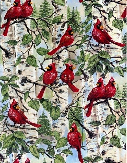 BT-Winterfleece 21707-X Red Birds