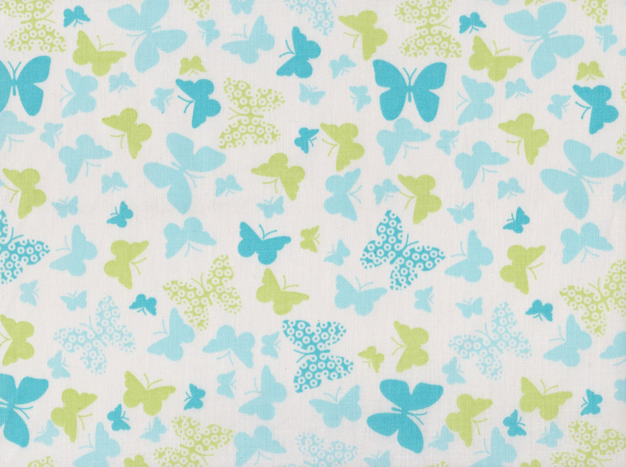 PROMO* FT-Novelty Prints - Turquoise Butterflies