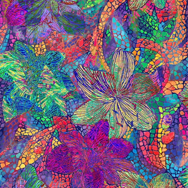 OF-Butterfly Waltz 60-3971 Bright Multi - Butterfly Floral