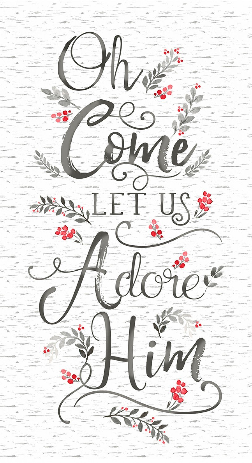 TT-Panel GC C7857 White - Oh Come Let Us Adore Him 24 Panel