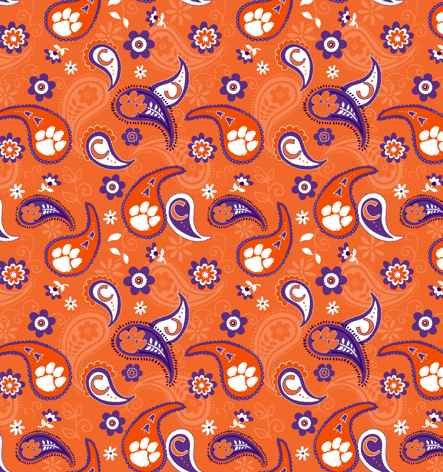 Collegiate Cotton Broadcloth University Of Florida Block Print Purple Fabric By The Yard