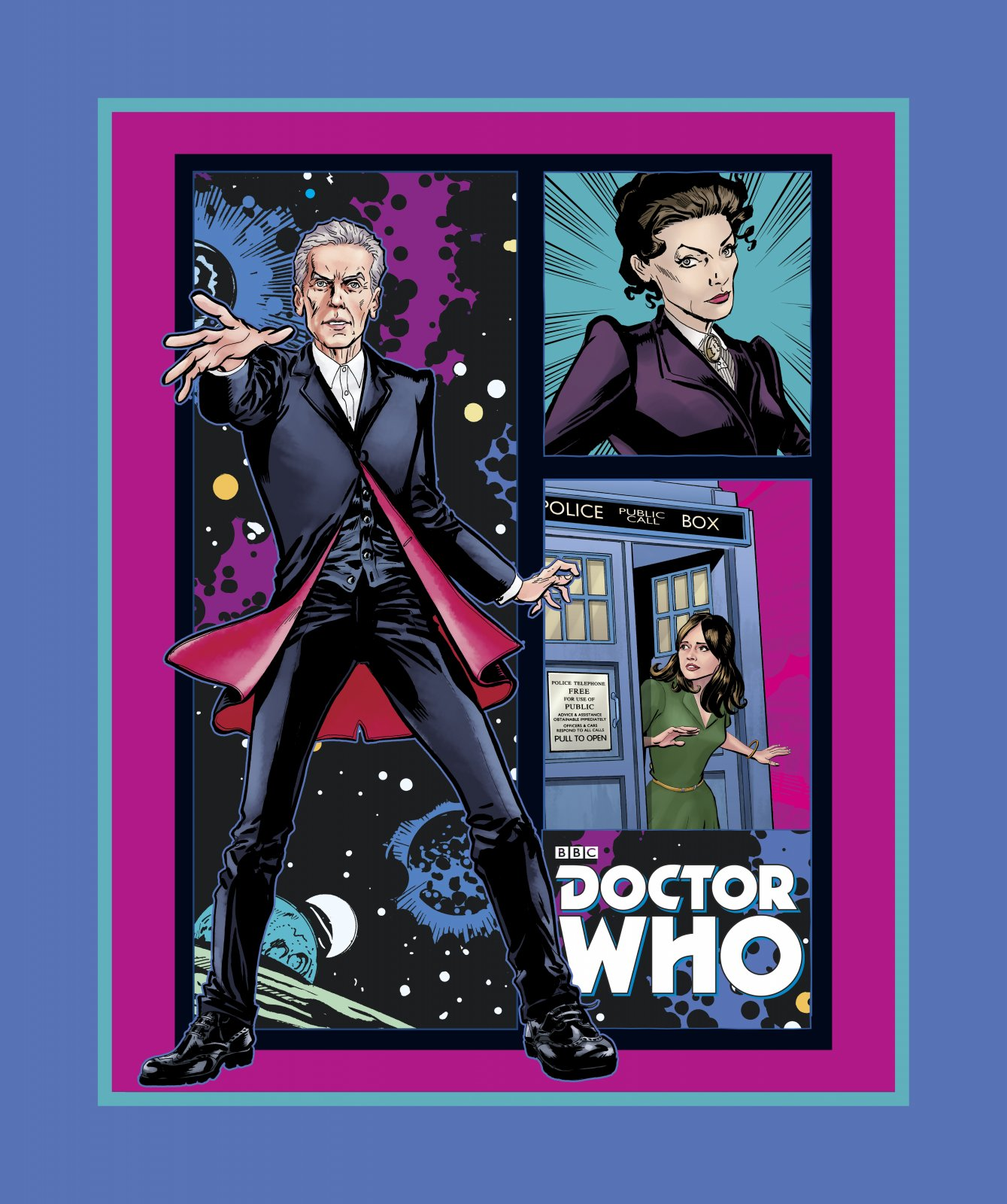 PROMO* SC-Doctor Who 58216 Telephone Box Panel