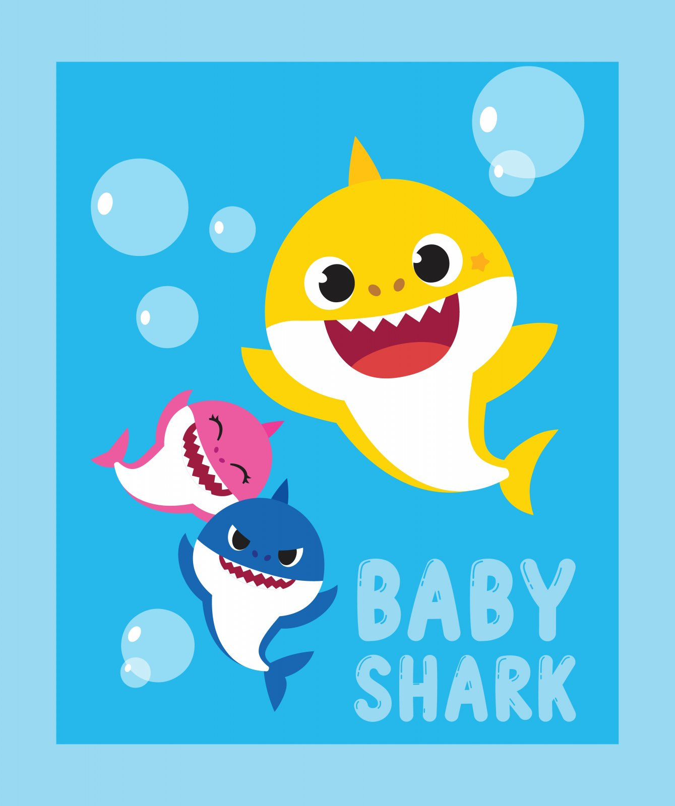 SC-Nickelodeon 74362-A620715 Baby Shark Family Panel