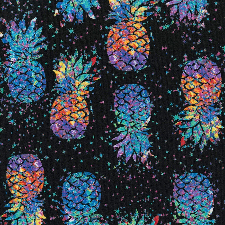 TT-WKnit CS7379 Black - Pineapples
