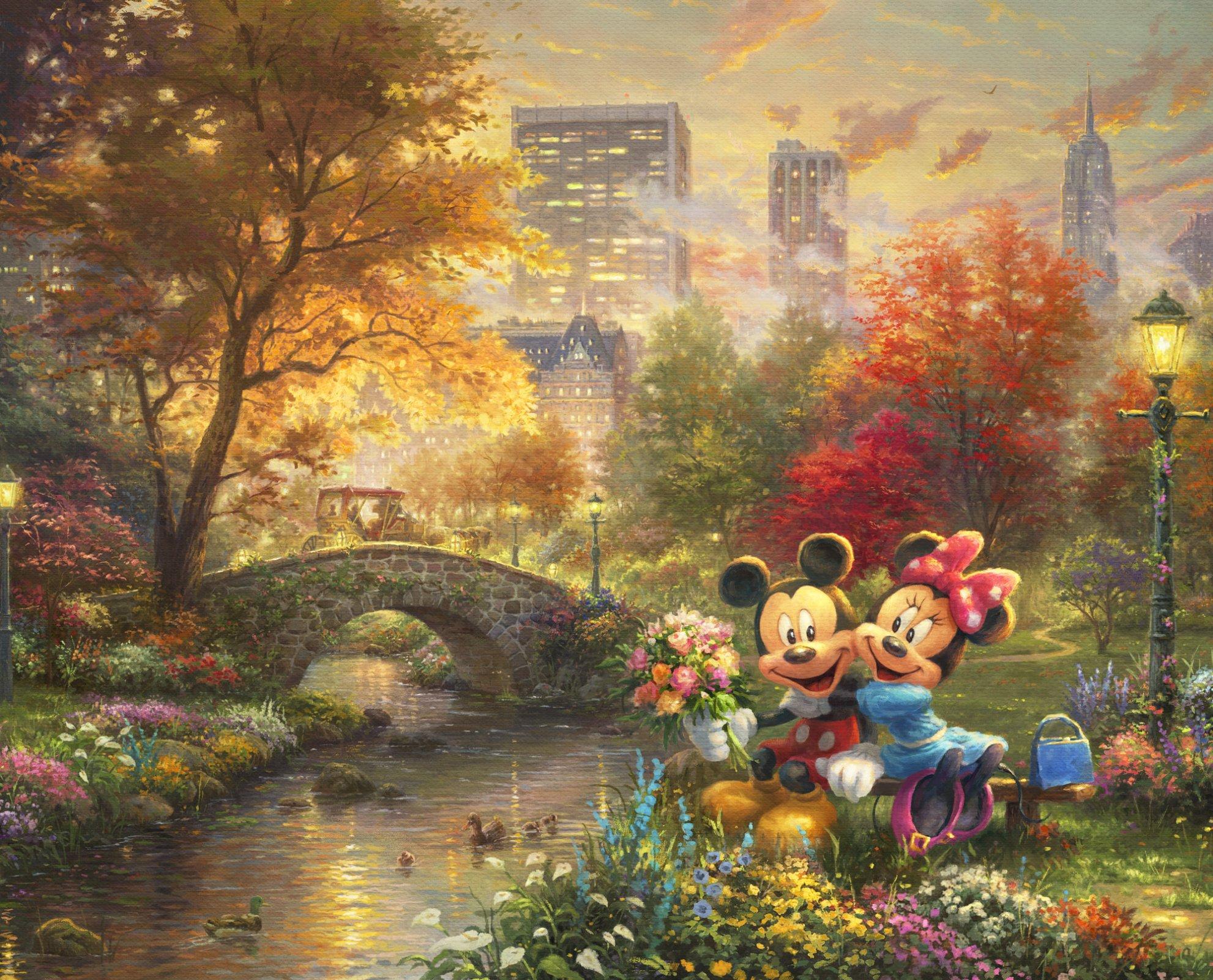 DT-Disney Dreams DS-2024-9C-1 Central Park Panel (35.5 x 44)