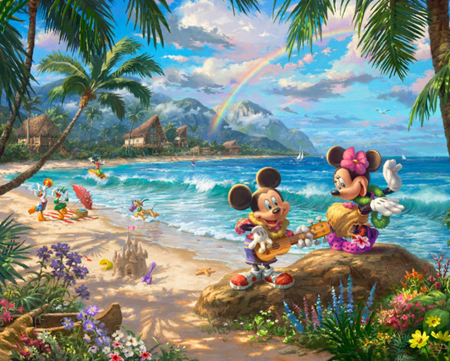 DT-Disney Magic DS-2049-9C-1 In Hawaii Panel (35.5 x 44)