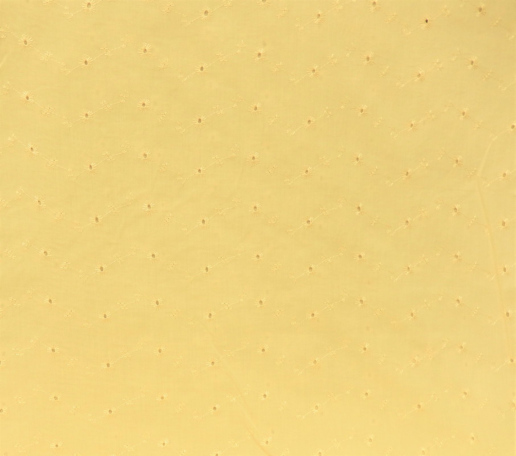 PROMO* FT-Embroidered Eyelet - Maize (Light Yellow)