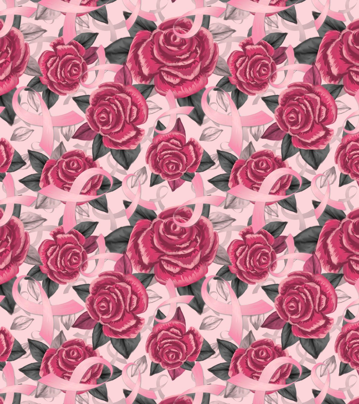 DT-Exclusive Digital Prints DT-3055-0C-2 Pink - Ribbon & Roses