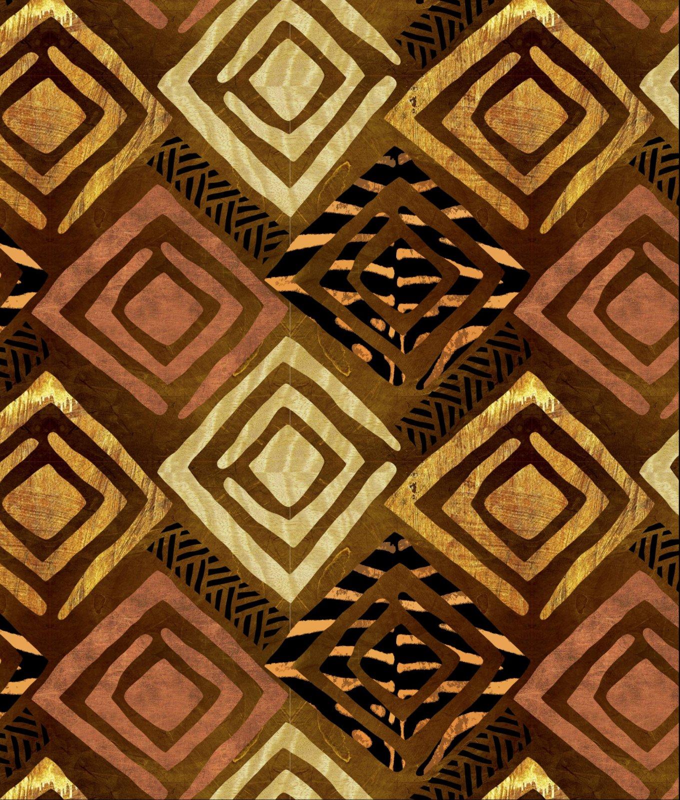 DT-Exclusive Digital Prints DT-5289-0C-1 Gold/Black - South African Arts