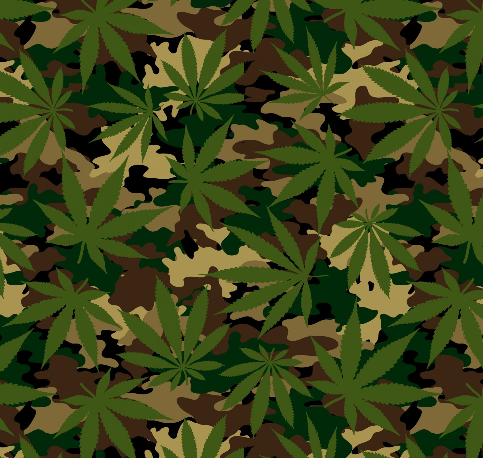 DT-Exclusive Digital Prints DT-6364-0C-2 Cannabis Camo