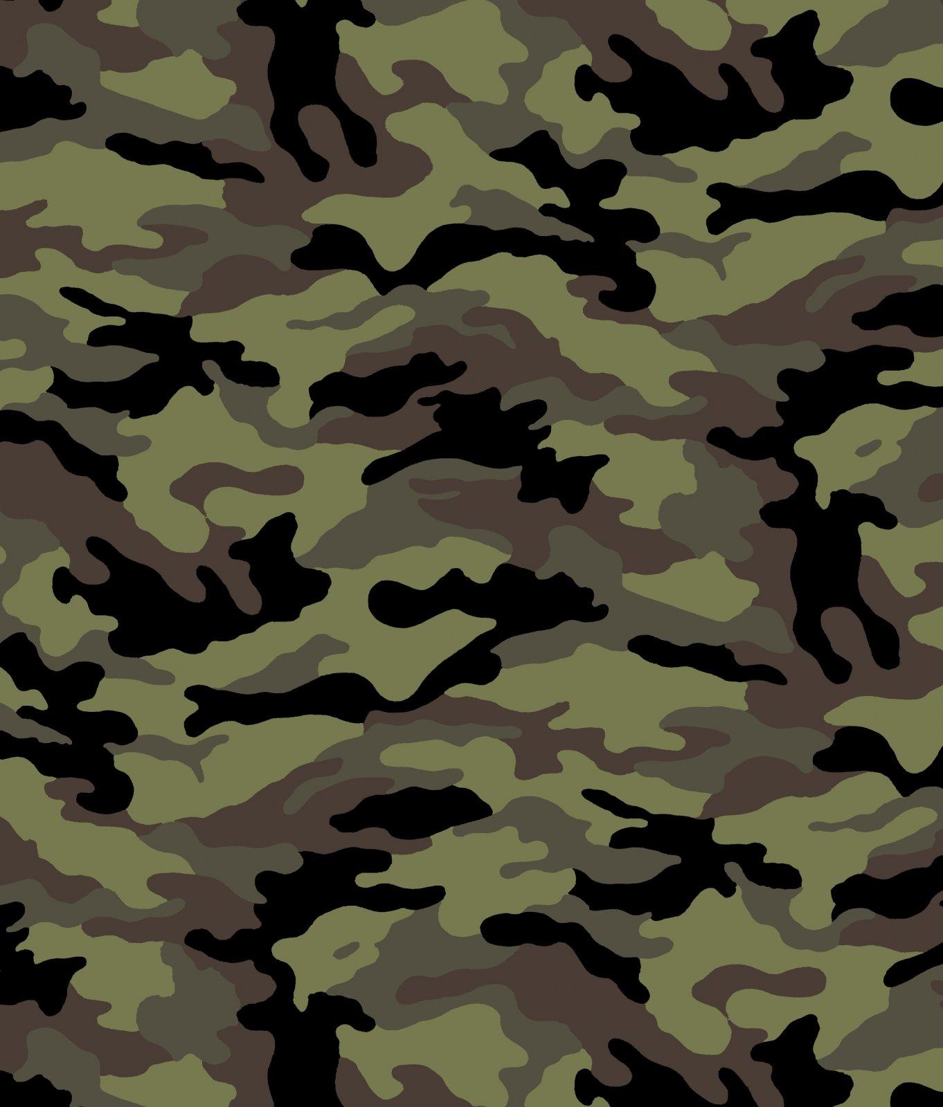 DT-Camouflage DT-7083-7C-19 Black/Olive - Camouflage