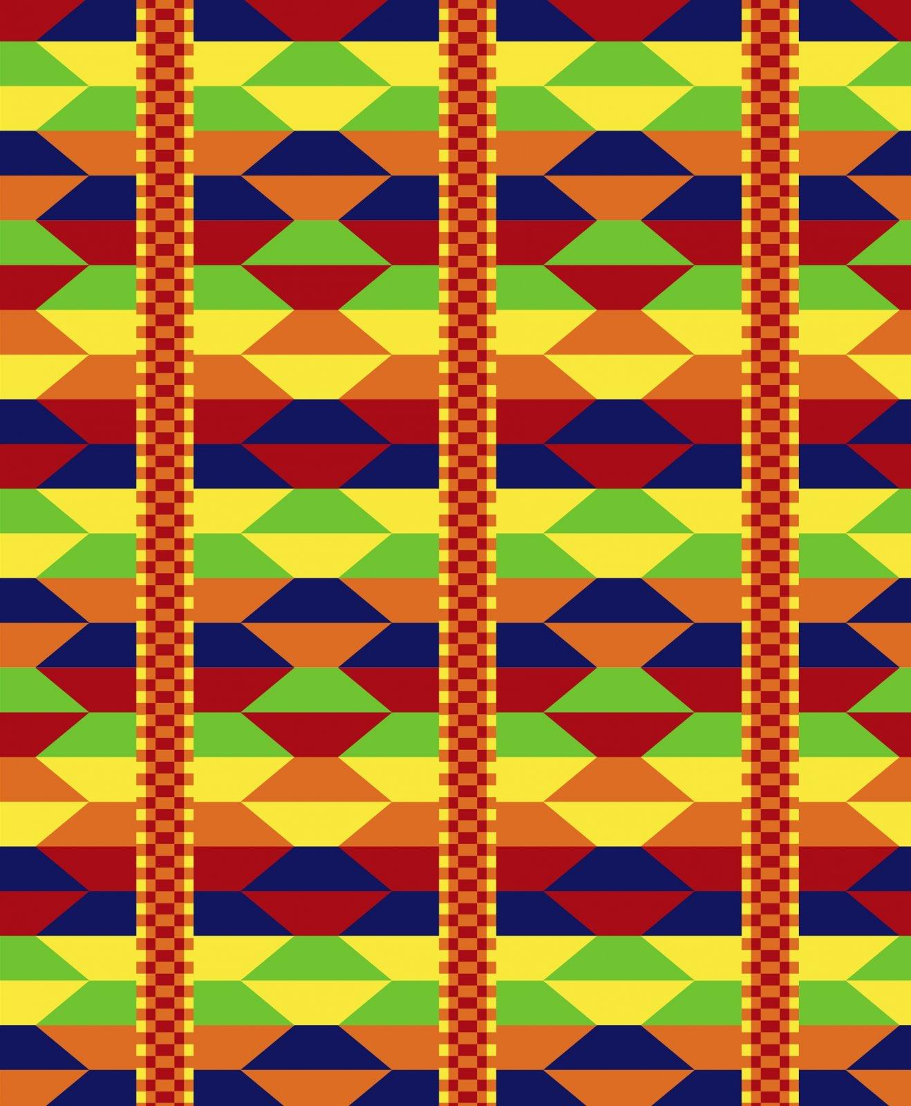 DT-Exclusive Digital Prints DX-2115-0C-1 Multi - Akan Weave