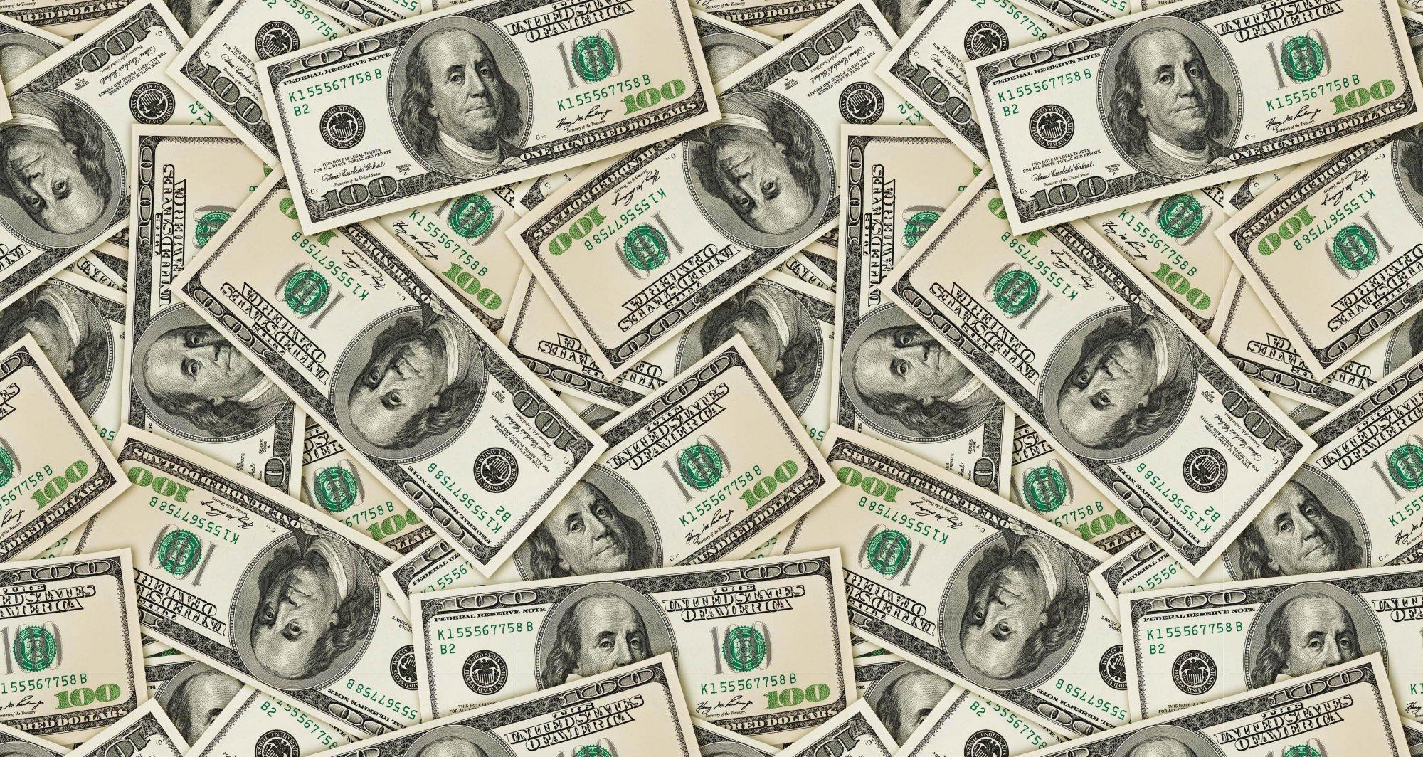 DT-Exclusive Digital Prints DX-2118-0C-1 Multi - $100 Hundred Dollar Bills