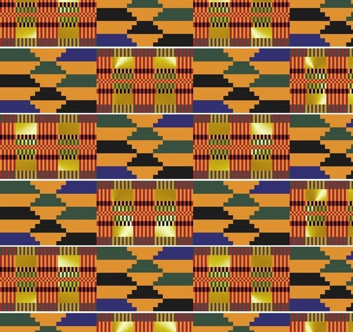 DT-African Continent DX-2348-0C-1 Multi - Akan Tapestry w/Metallic