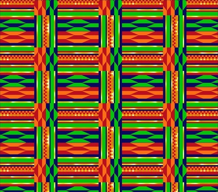 DT-African Continent DX-2443-0C-1 Multi - Kente Grid w/Metallic