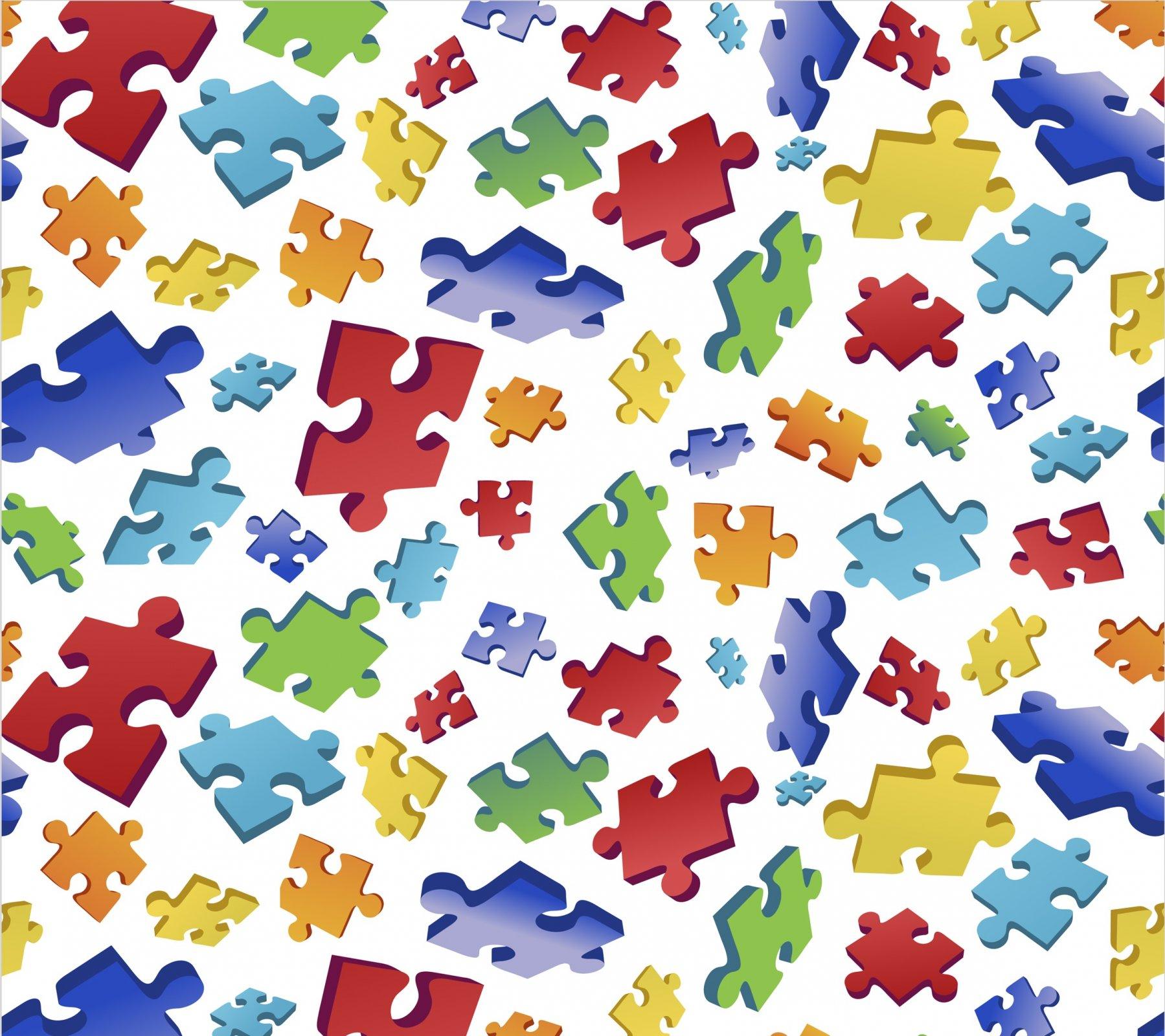 DT-Foust Exclusive Digital Prints DX-2551-0C-1 White/Multi - Puzzle Toss