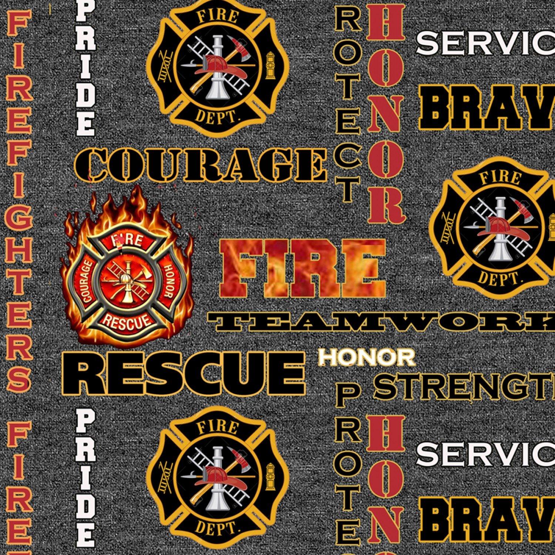 Sykel-Firefighter Cotton 1181 Fire Fighter Logo Heather Print
