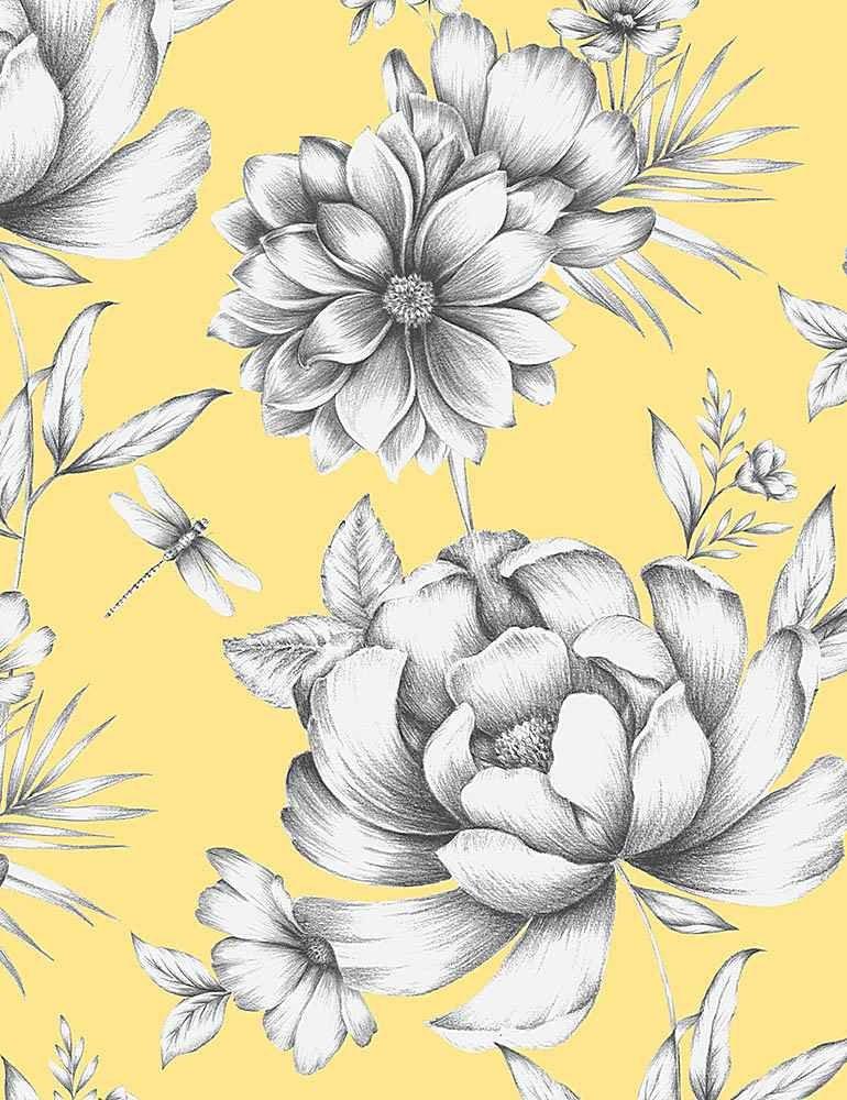 TT-Fleur C1121 Yellow - Large Buttercup Florals