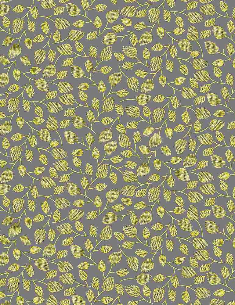 TT-Fleur C1126 Grey - Buttercup Leaves on Stems