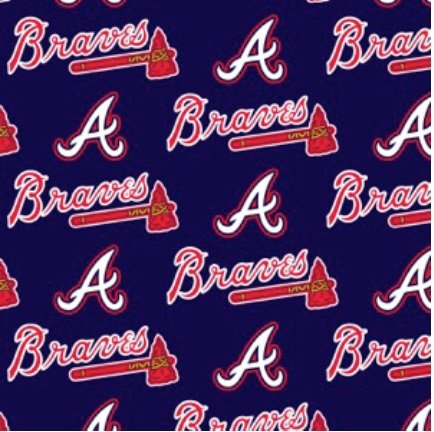 FT-MLB Cotton 6631-B Atlanta Braves