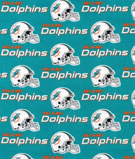 FT-NFL Cotton 6459 D Miami Dolphins