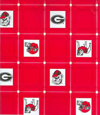 Georgia  Tablecloth - Tailgate Fabric