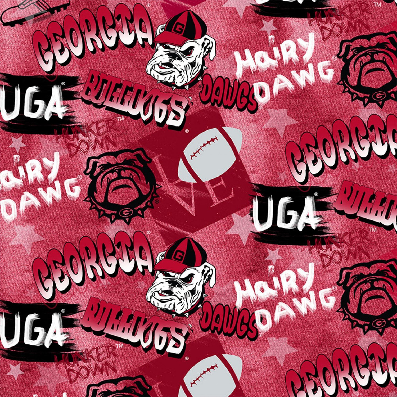 Georgia University of GA-1235 Graffiti Cotton - Digitally Printed