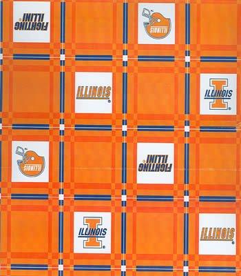 Illinois  Tablecloth - Tailgate Fabric