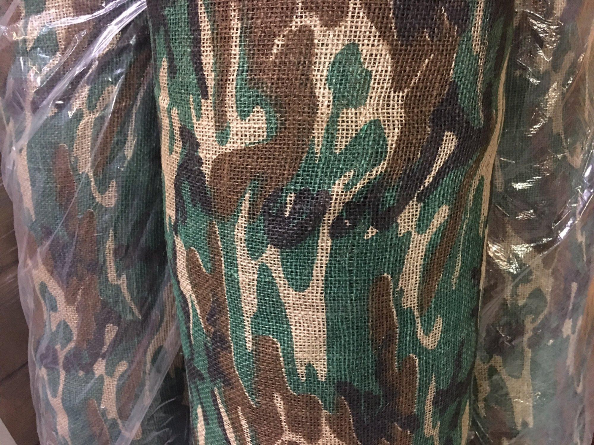 Camo Burlap- Woodlawn Pattern