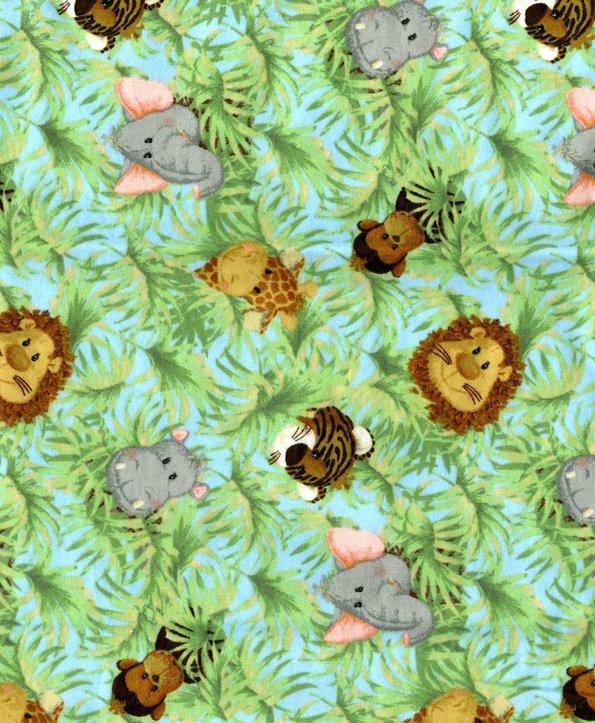 PROMO* FT-Novelty Prints 1594 Jungle Babies Allover