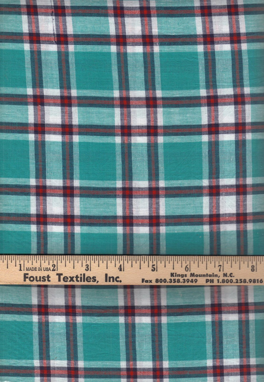 PROMO* TC-Madras Plaid MA 171 Aqua