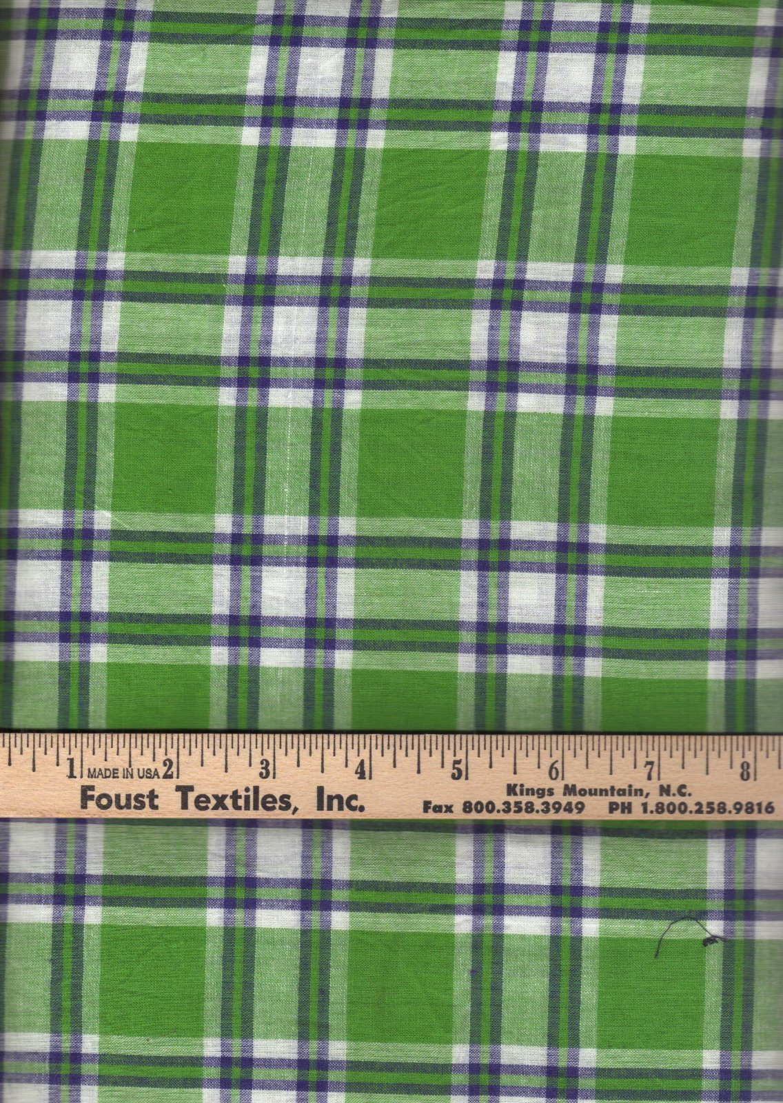 PROMO* TC-Madras Plaid MA 174 Green