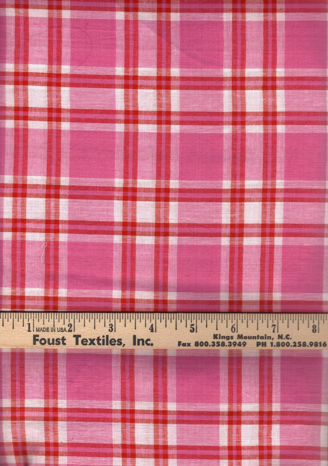 PROMO* TC-Madras Plaid MA 177 Pink